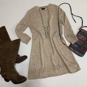 Topshop Dresses - Topshop Sweater Dress Tunic Knit Lightweight